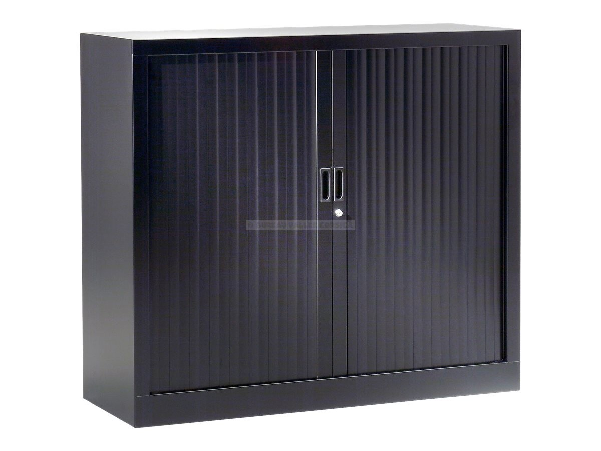 armoire monobloc a rideaux noire 120 x 100 x 43 cm. Black Bedroom Furniture Sets. Home Design Ideas